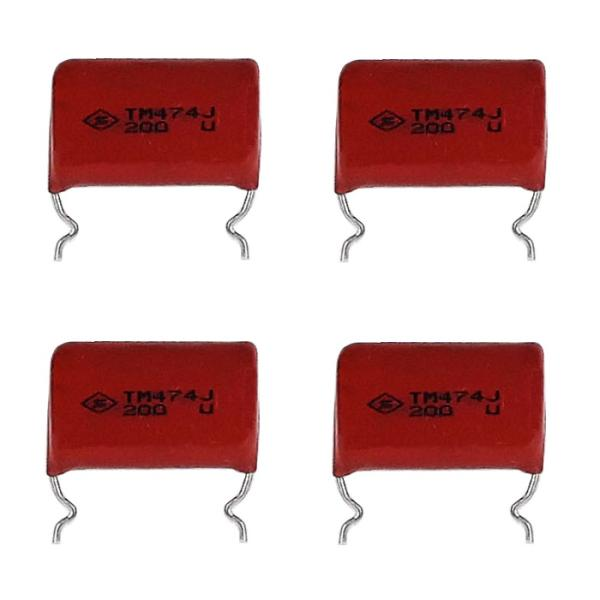 خازن 470 نانو فاراد مدل 200V بسته 4 عددی