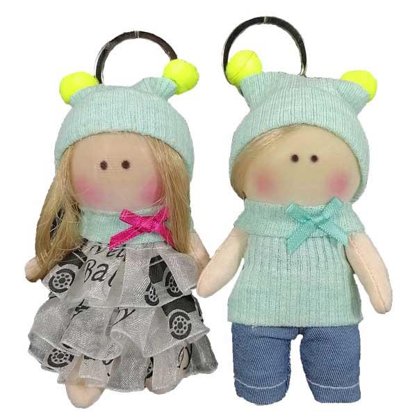 آویز عروسک طرح روسی مدل دختر و پسر کد A04 مجموعه 2 عددی