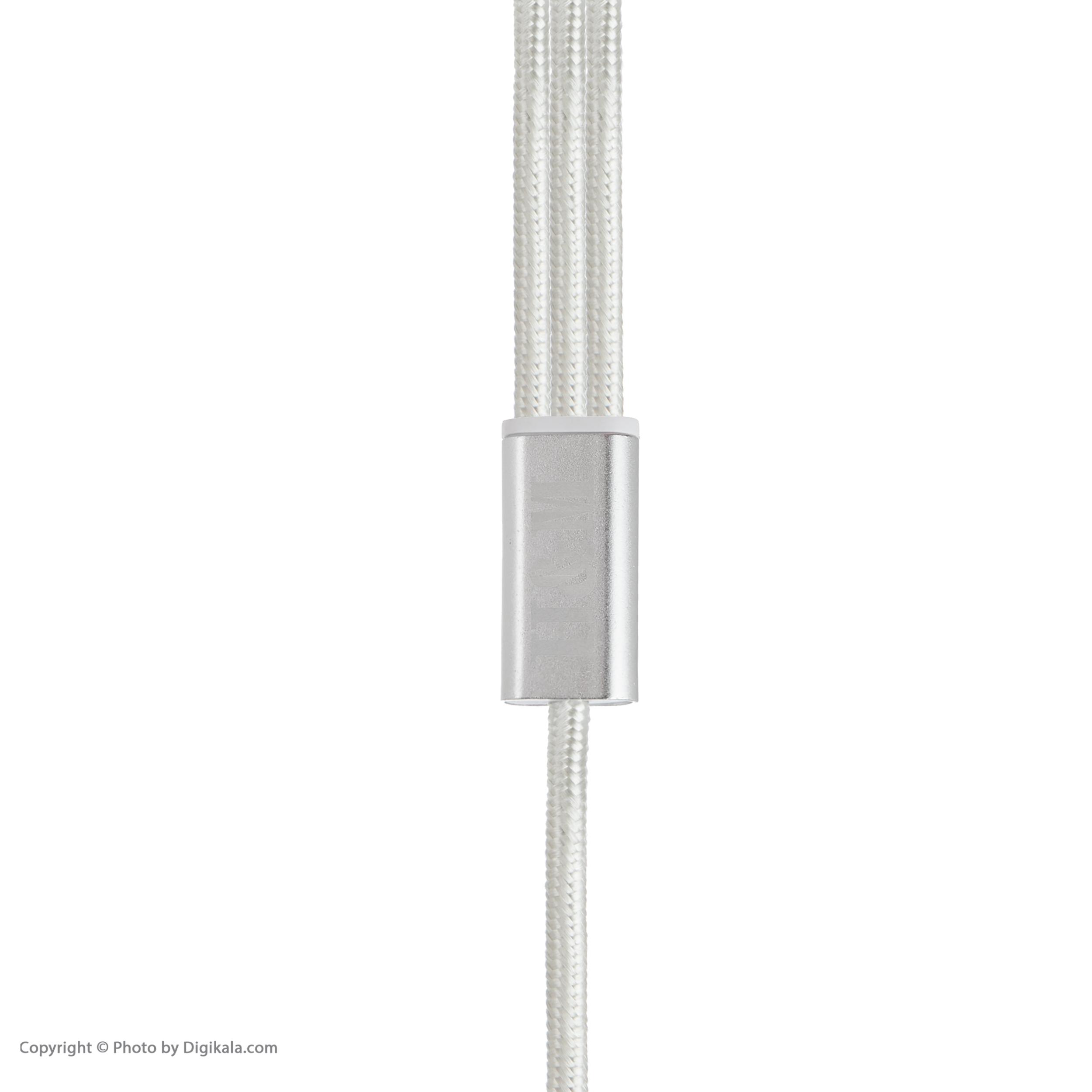 کابل تبدیل USB به لایتنینگ/USB-C/microUSB اچ اند ام مدل C08 طول 1.2 متر