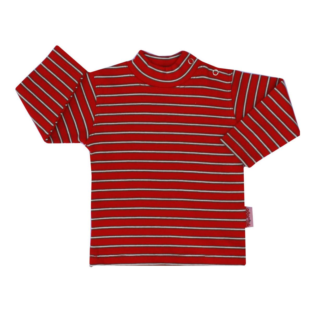 تی شرت دخترانه آدمک طرح راه راه کد 144301