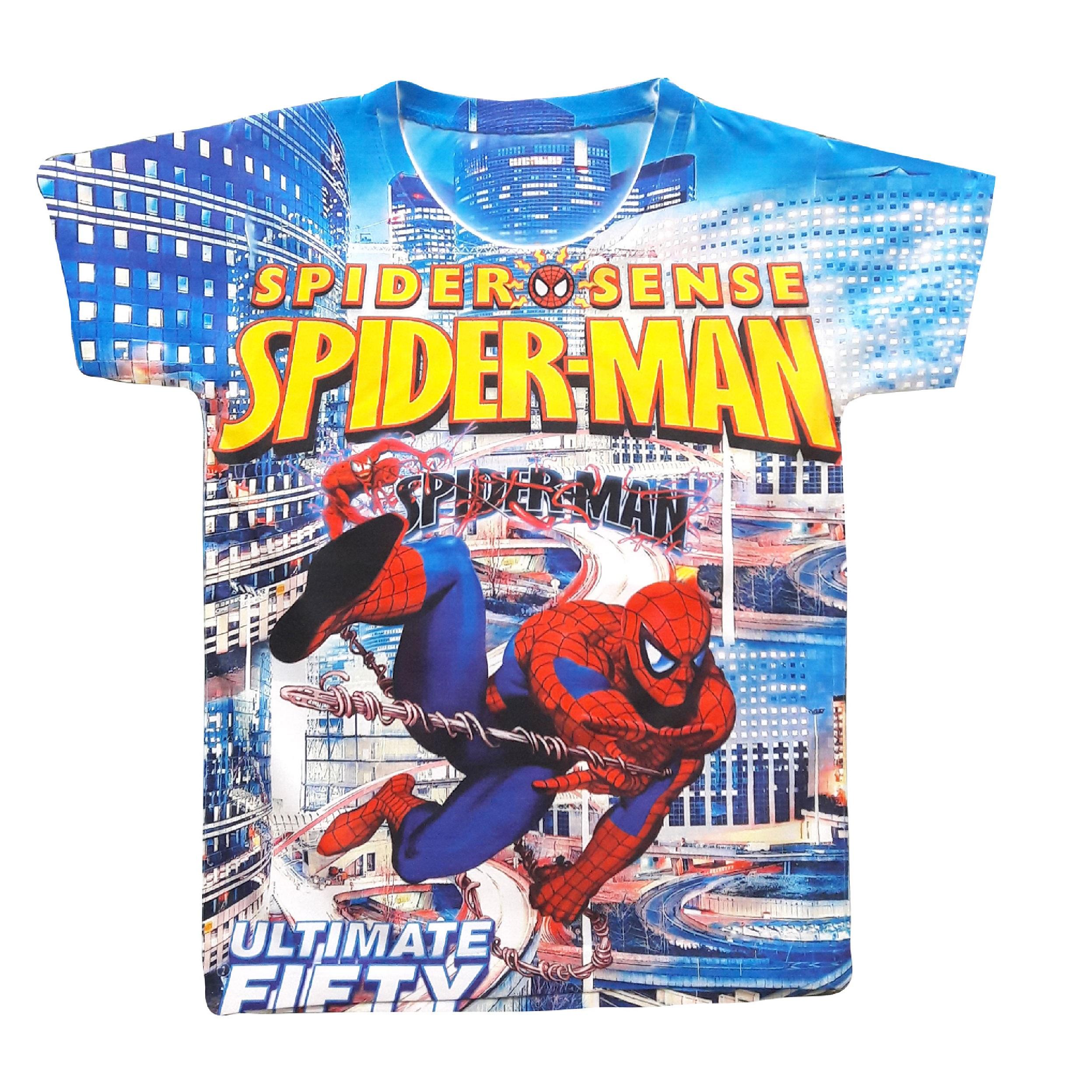 تی شرت پسرانه طرح مرد عنکبوتی کد PT03