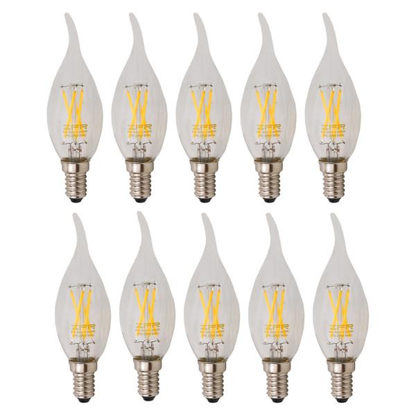 لامپ ال ای دی فیلامنتی 4 وات زد اف ار  پایه E14 بسته 10 عددی