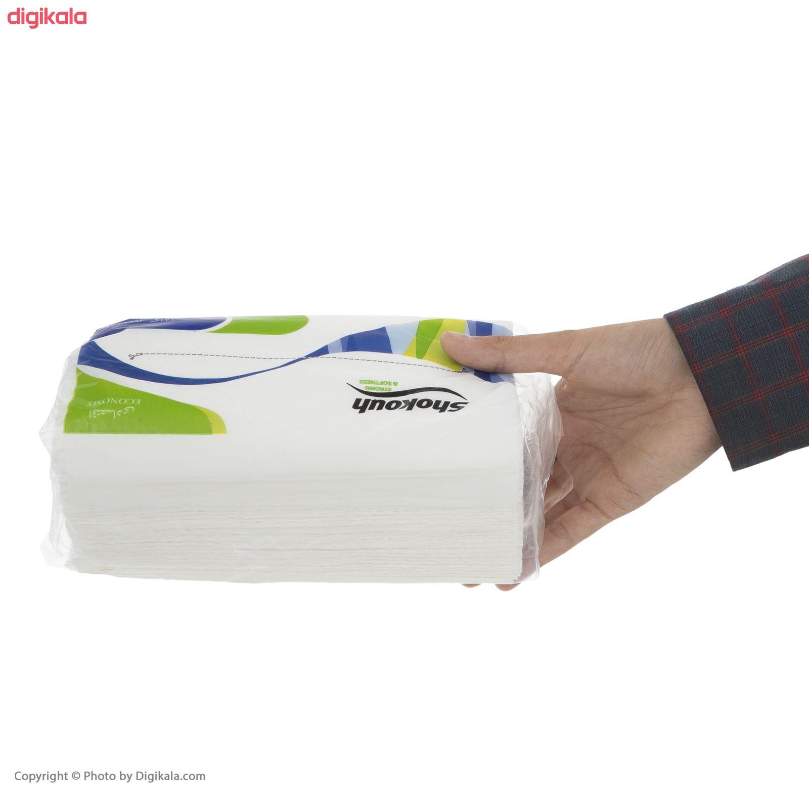 دستمال کاغذی 100 برگ شکوه کد 02 بسته 10 عددی  main 1 3