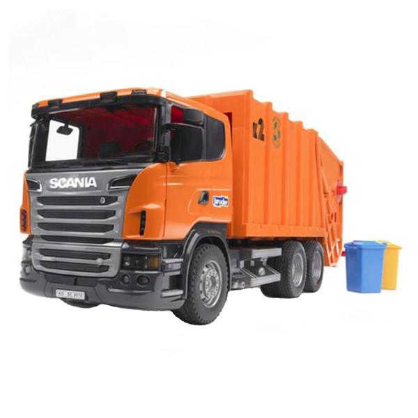 ماشین بازی برودر مدل کامیون حمل زباله اسکانیا