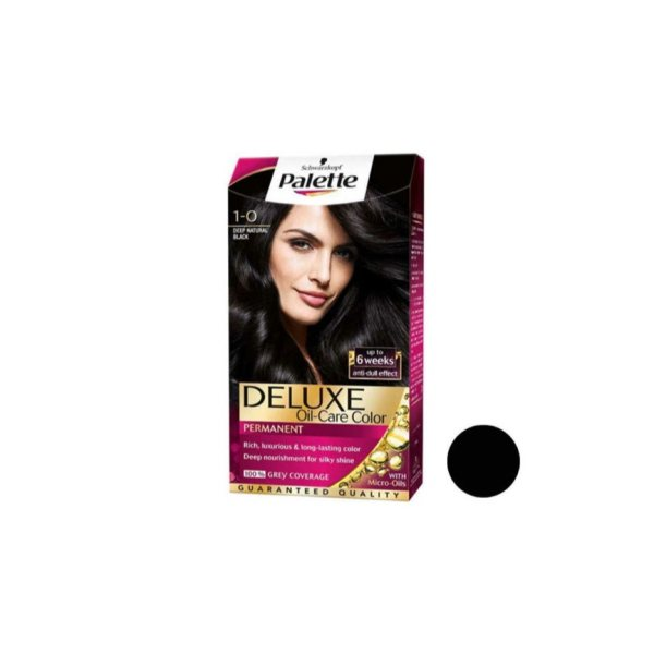 کیت رنگ مو پلت سری  DELUXE Oil-care color شماره 0-1 حجم 50 میلی لیتر رنگ مشکی