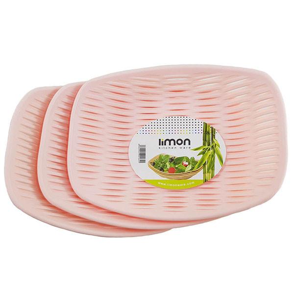 سبد نان و سبزی لیمون مدل AT156 مجموعه 3 عددی