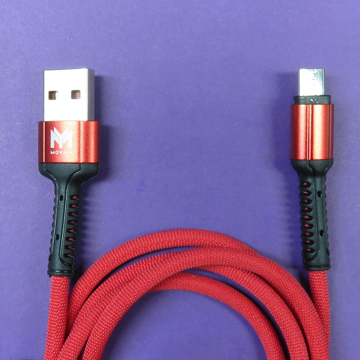 کابل تبدیل USB به microUsb مویان مدل MC-04 طول 1 متر