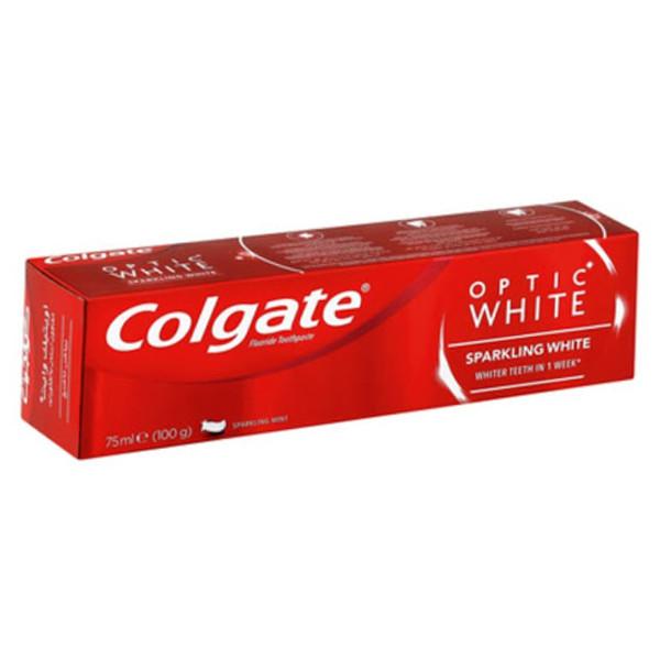 خمیر دندان کلگیت سری Optic White مدل SPARKLING WHITE حجم 75 میلی لیتر