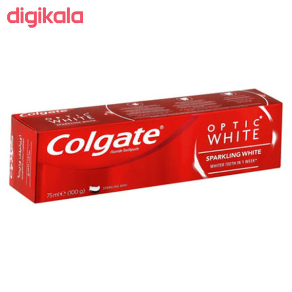 خمیر دندان کلگیت سری Optic White مدل SPARKLING WHITE حجم 75 میلی لیتر  main 1 2
