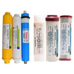 فیلتر دستگاه تصفیه کننده آب پالایه سازان فرآیند توس مدل RO-new مجموعه 6 عددی