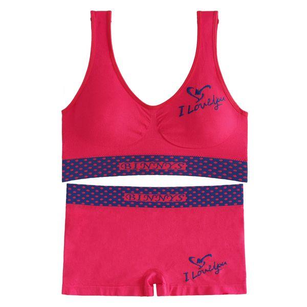 ست نیم تنه و شورت ورزشی زنانه کد 11-S80 رنگ مرجانی