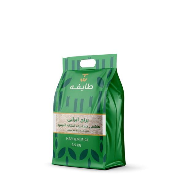 برنج هاشمی معطر درجه یک آستانه اشرفیه طایفه - 3.5 کیلوگرم