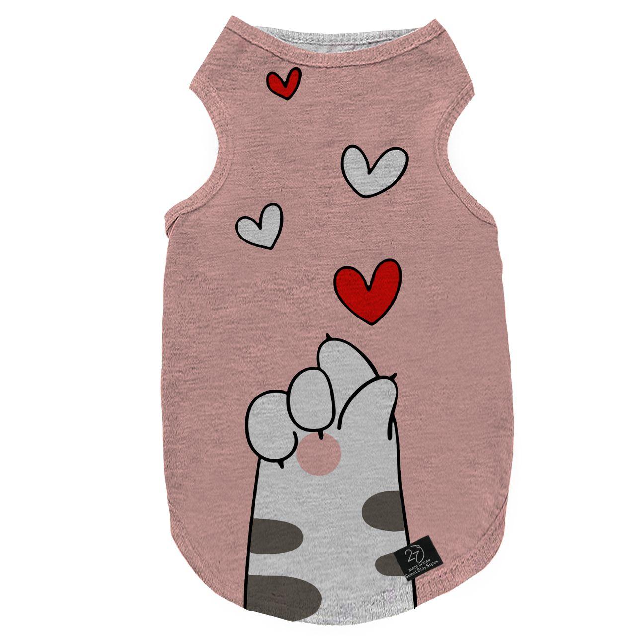لباس سگ و گربه 27 مدل Love کد B09 سایز S