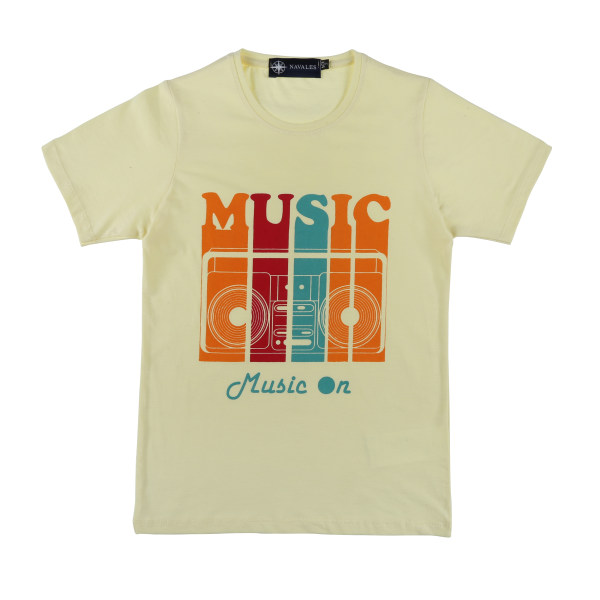 تیشرت بچگانه ناوالس کد MUSIC-01-YL