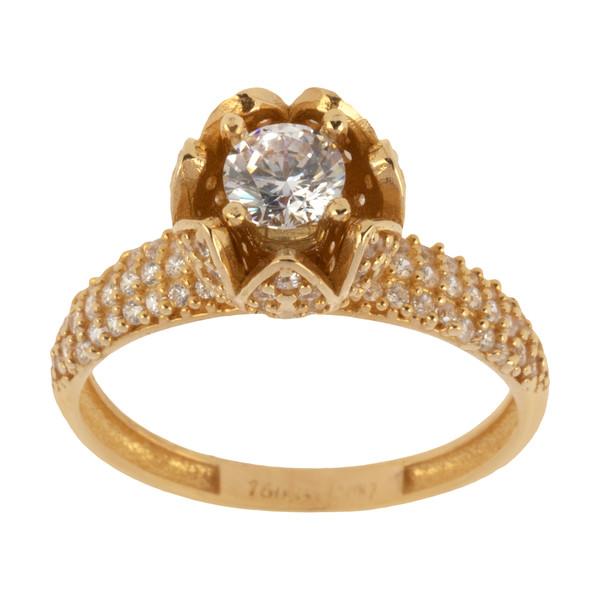 انگشتر طلا 18 عیار زنانه کانیار گالری کد AN6