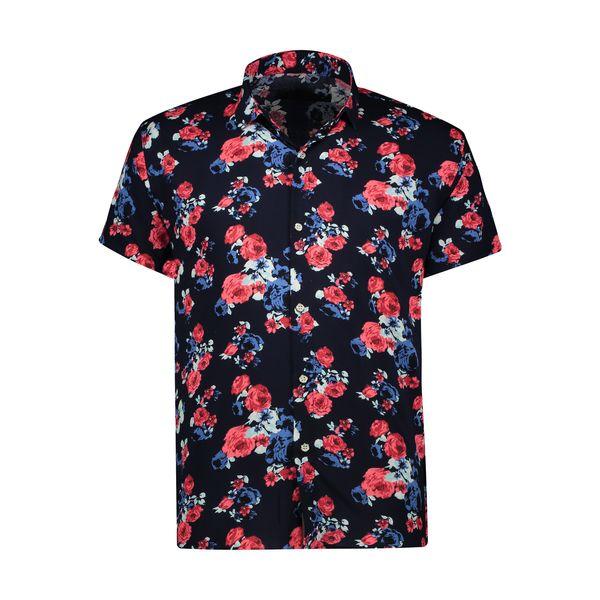 پیراهن آستین کوتاه مردانه مدل هاوایی کد S-GA
