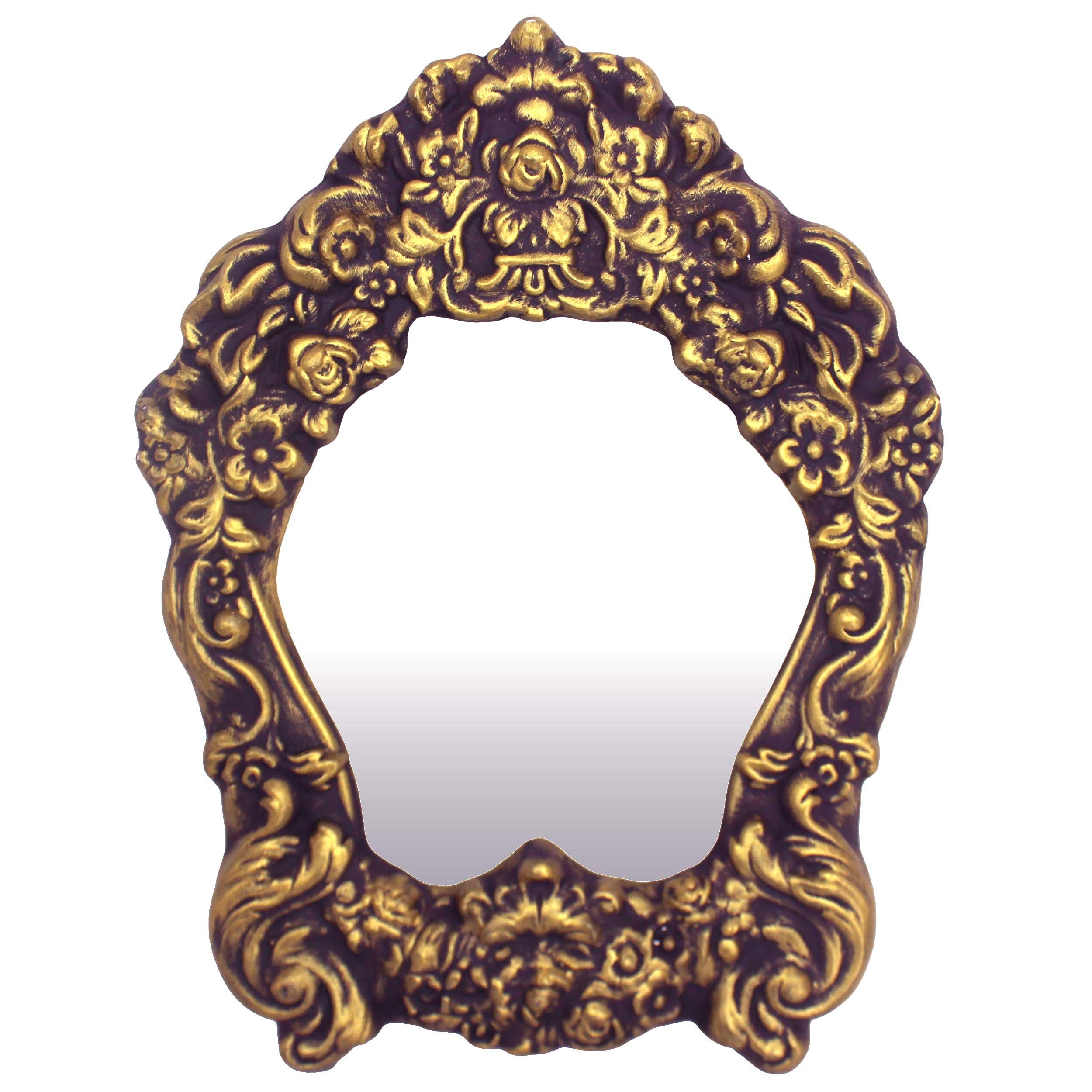 آینه سرامیکی دست نگار طرح گل