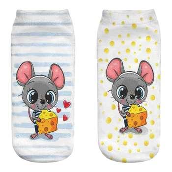 جوراب زنانه طرح موش کد B69