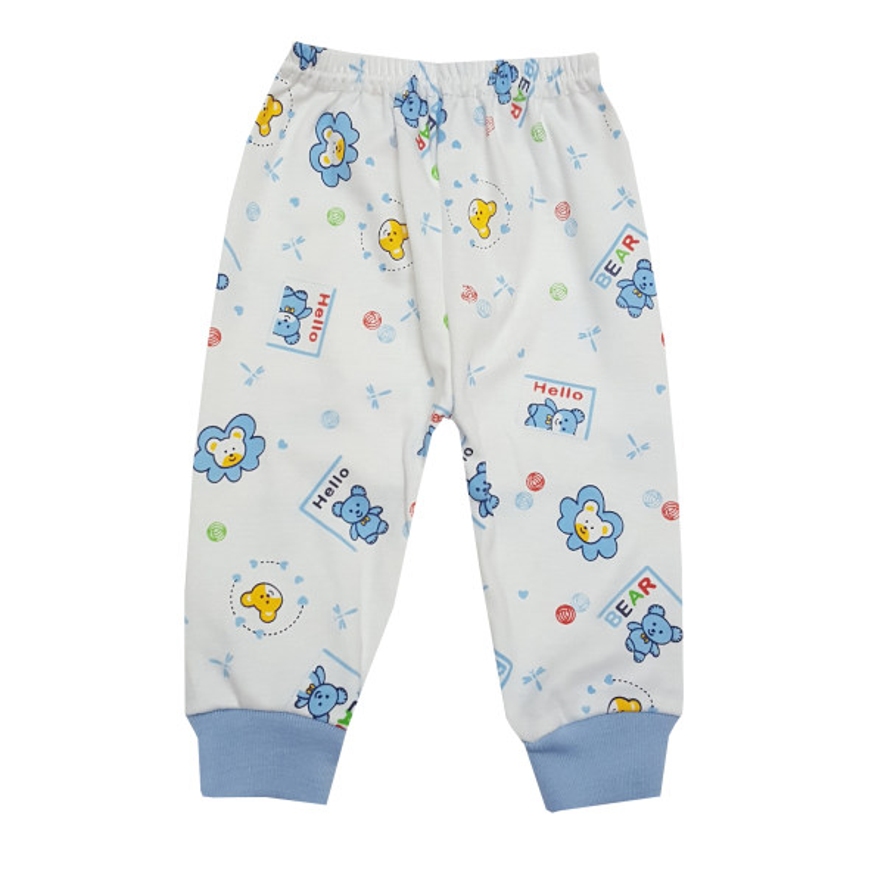 شلوار نوزادی طرح خرس رنگ آبی