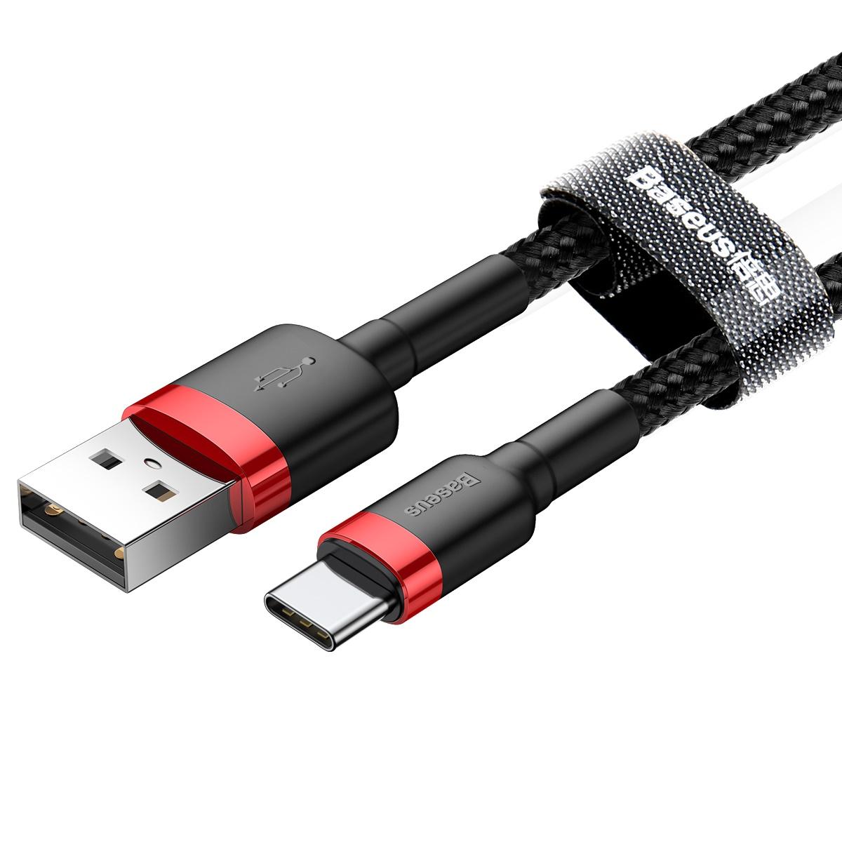کابل تبدیل USB به USB-C باسئوس مدل CATKLF-C91 Cafule طول 2 متر main 1 2