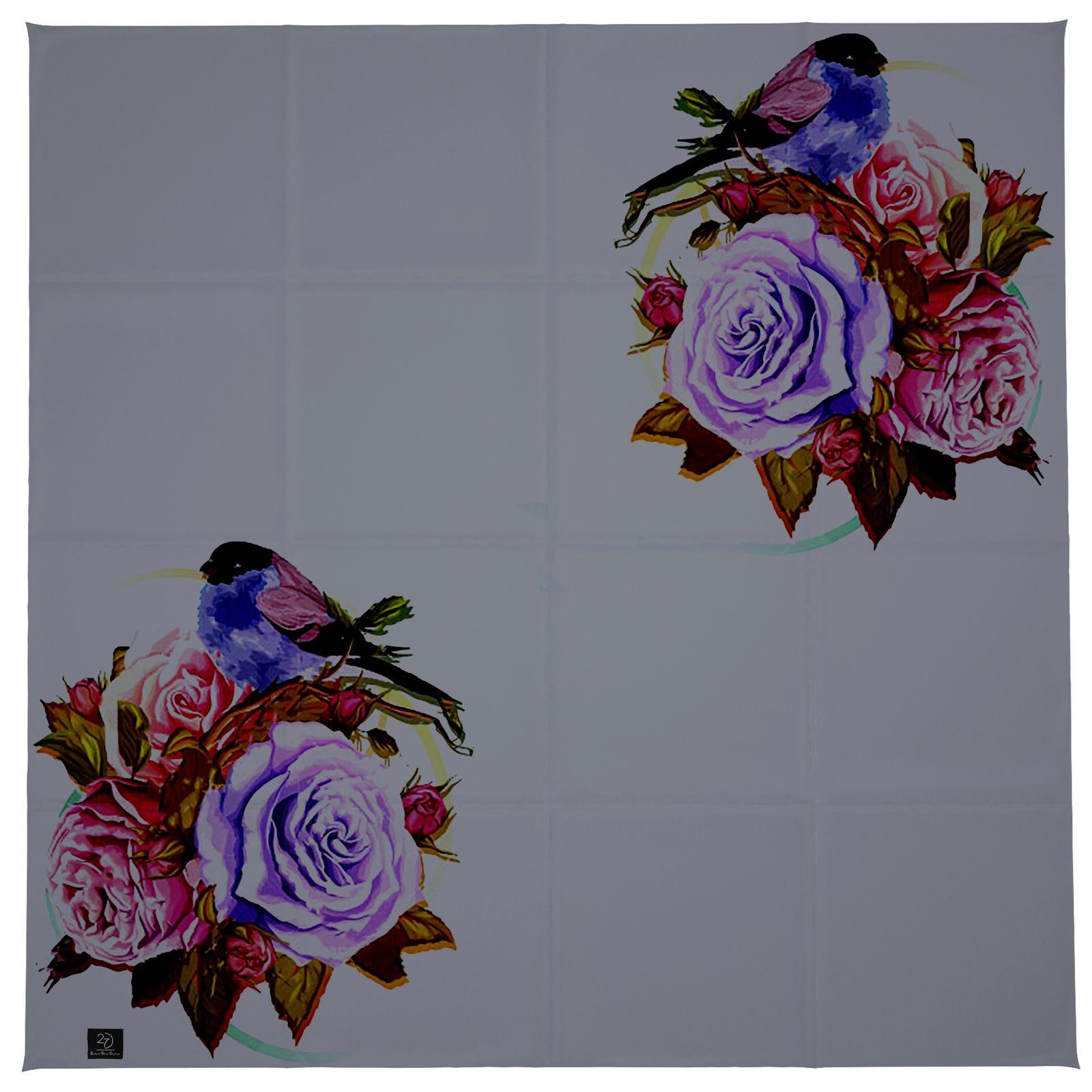 روسری زنانه 27 طرح پرنده و گل کد H06 -  - 6