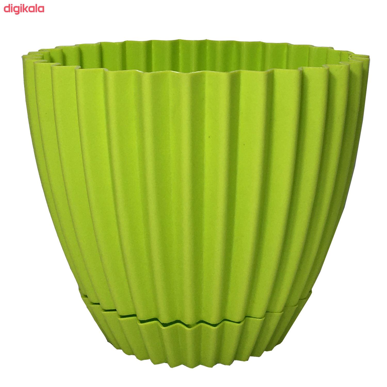 گلدان دانیال پلاستیک کد 1012 مجموعه 8 عددی main 1 2