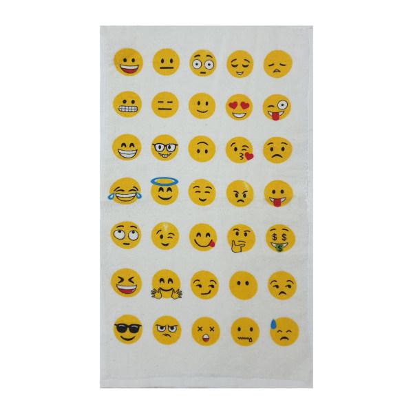 حوله دستی آکیپک مدل emoji سایز 30X50 سانتی متر