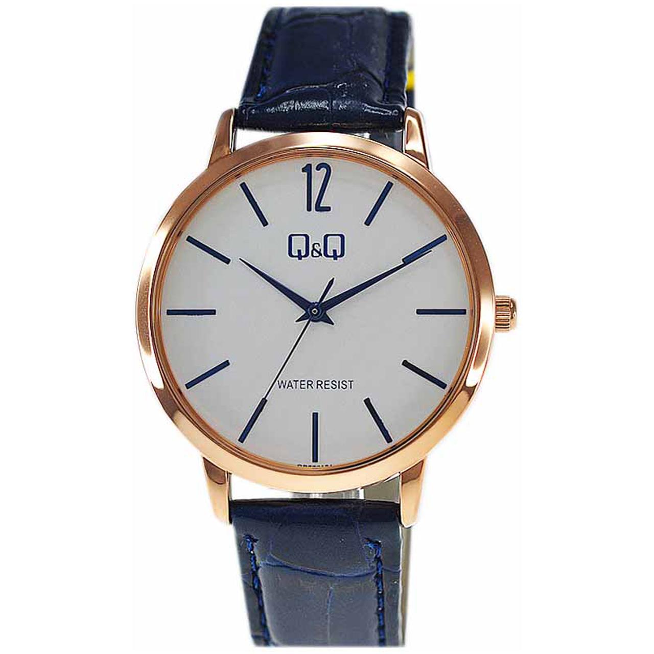 ساعت مچی عقربهای مردانه کیو اند کیو مدل qb34j121y