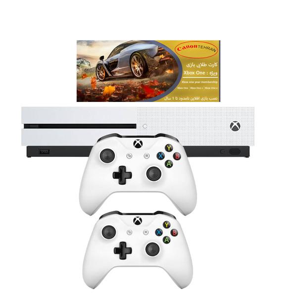مجموعه کنسول بازی مایکروسافت مدل Xbox One S ظرفیت 1 ترابایت به همراه ۲۰ عدد بازی و دسته اضافه