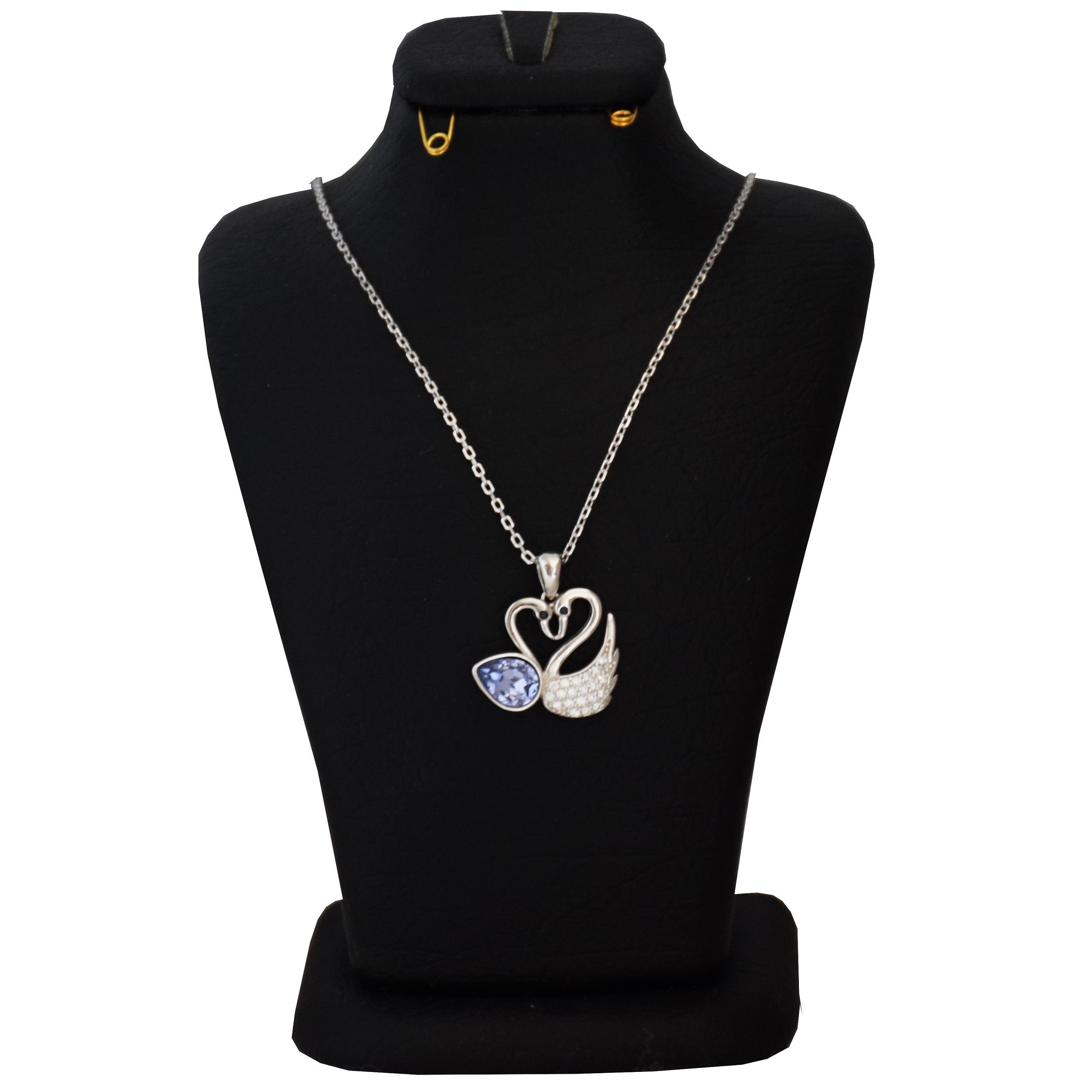 گردنبند نقره زنانه سواروسکی طرح قو کد NV 022