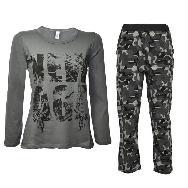 ست تی شرت و شلوار زنانه دونیا یلدیزی مدل 7023