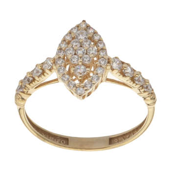 انگشتر طلا 18 عیار زنانه مایا ماهک مدل MR0431