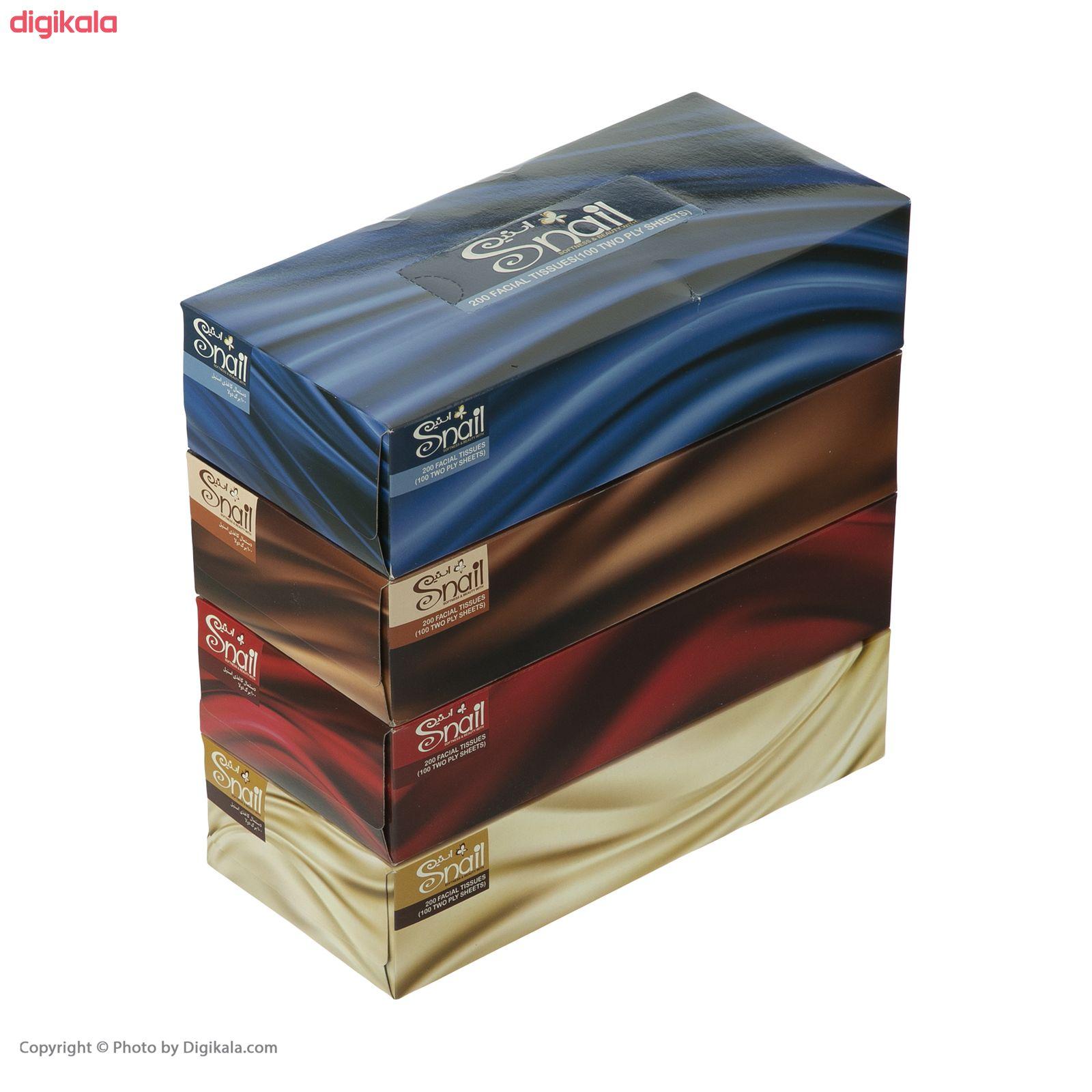 دستمال کاغذی 100 برگ اسنیل کد 01 مجموعه 4 عددی  main 1 12