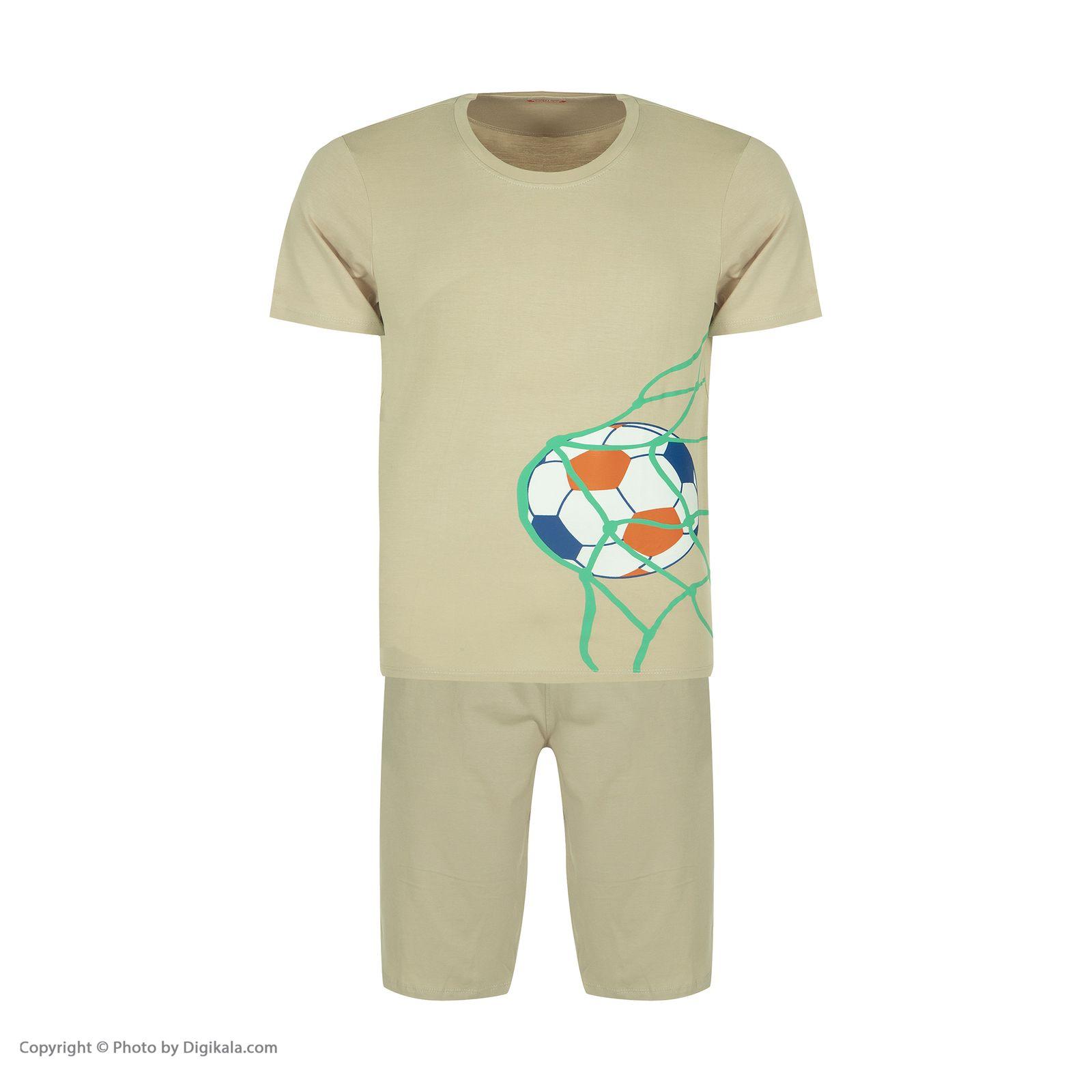ست تی شرت و شلوارک راحتی مردانه مادر مدل 2041109-07 -  - 3