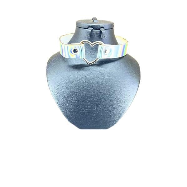 گردنبند چوکر دخترانه مدل هولوگرامی طرح قلب کد 44700