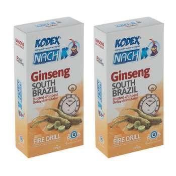 کاندوم ناچ کدکس مدل Ginseng مجموعه 2 عددی