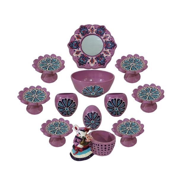 مجموعه ظروف هفت سین 12پارچه طرح گل کد 65554