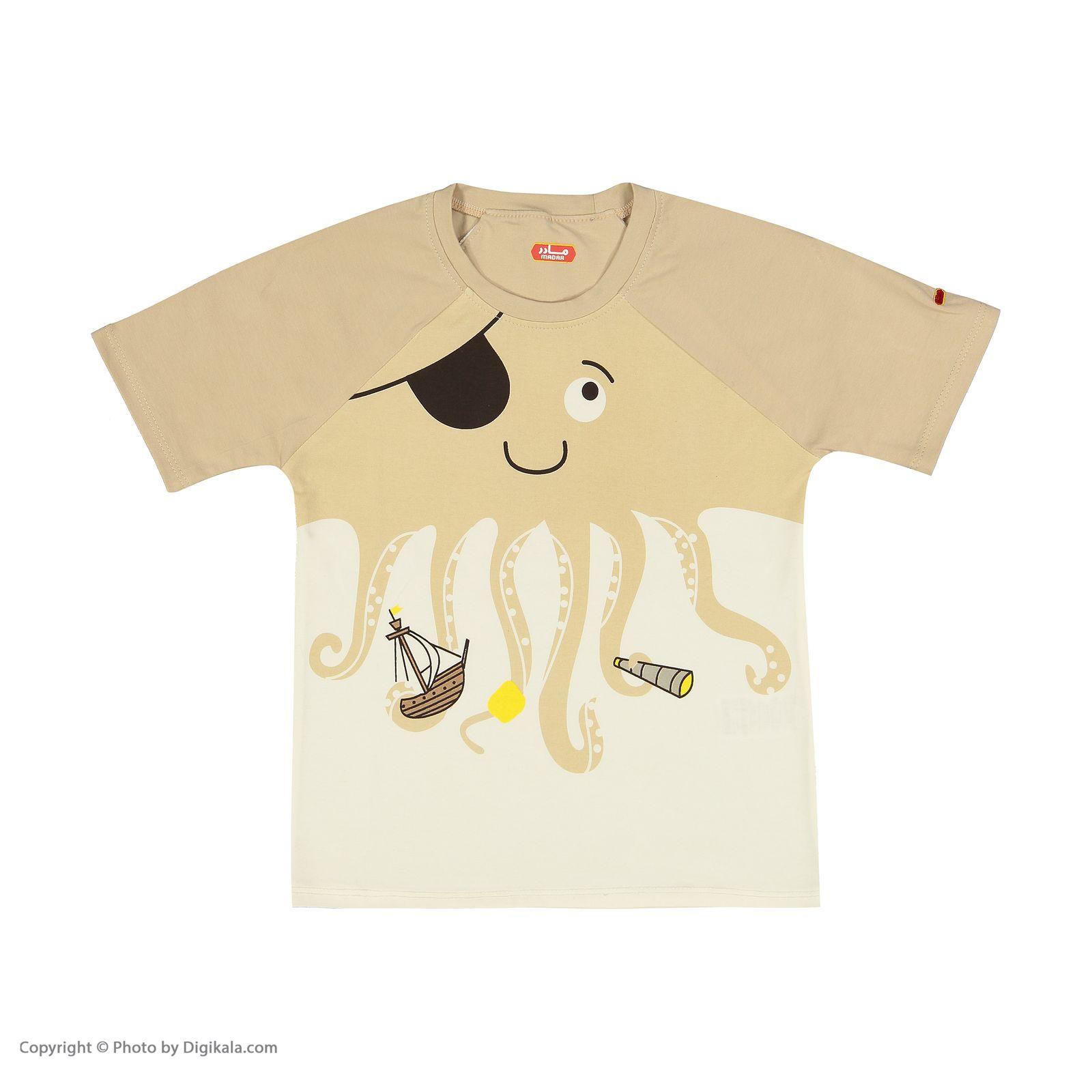 ست تی شرت و شلوارک راحتی پسرانه مادر مدل 2041107-07 main 1 2