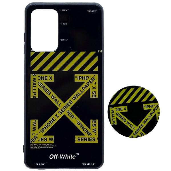 کاور کد 3-a72 مناسب برای گوشی موبایل سامسونگ Galaxy A72 به همراه پایه نگهدارنده