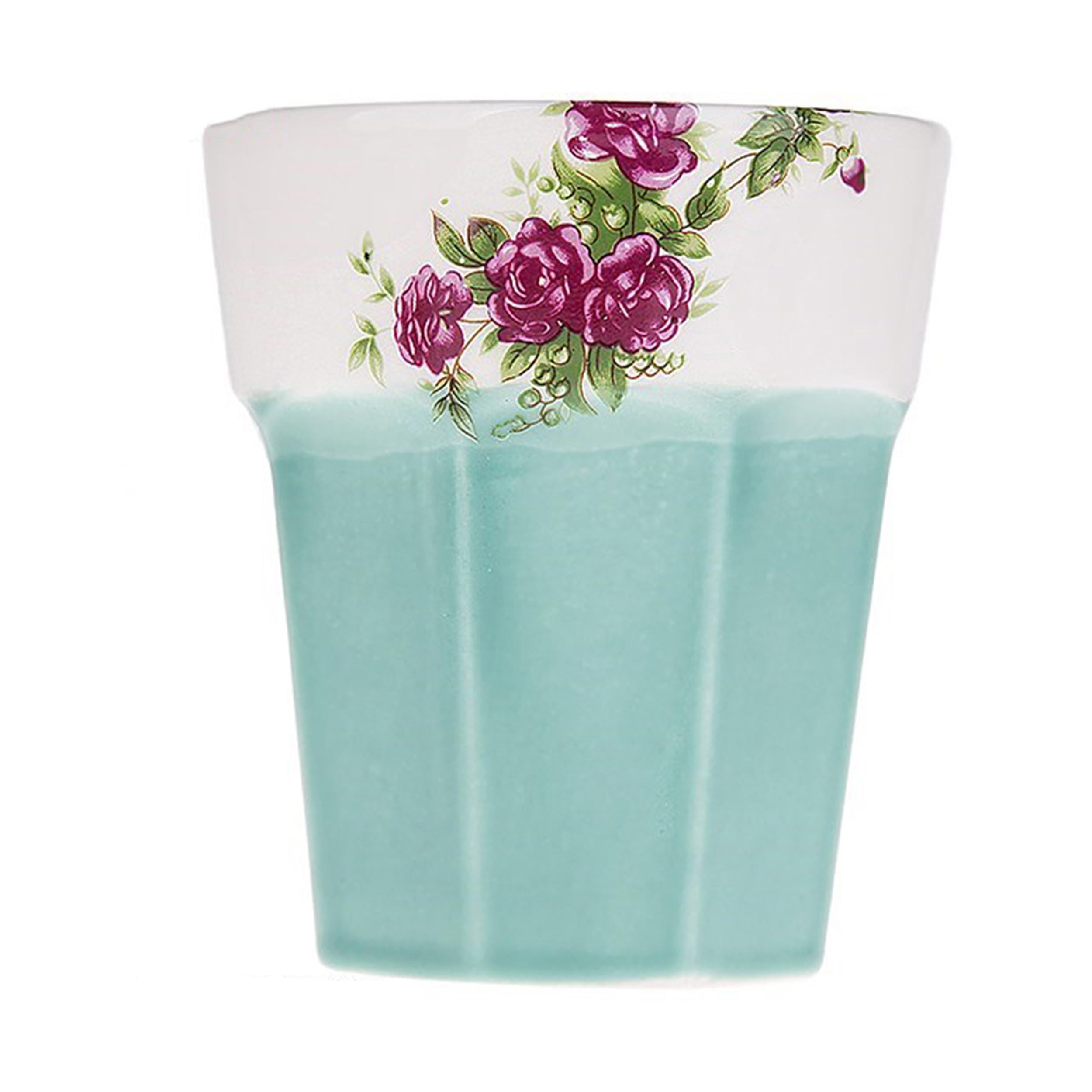 لیوان سرامیکی گالری میرانام طرح گل سرخ
