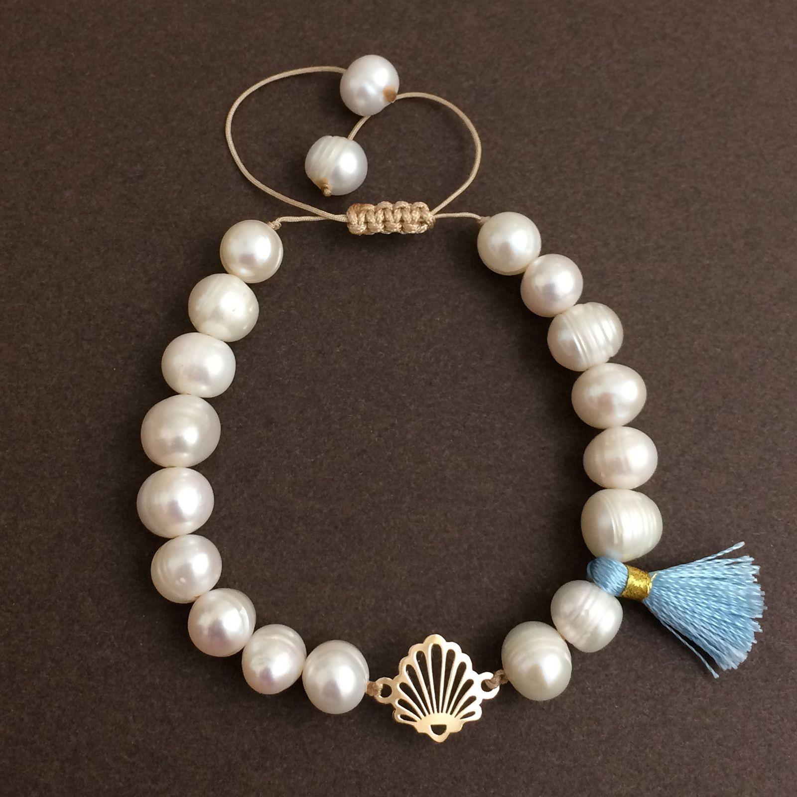 دستبند طلا 18 عیار زنانه الماسین آذر کد SADAF03 -  - 2