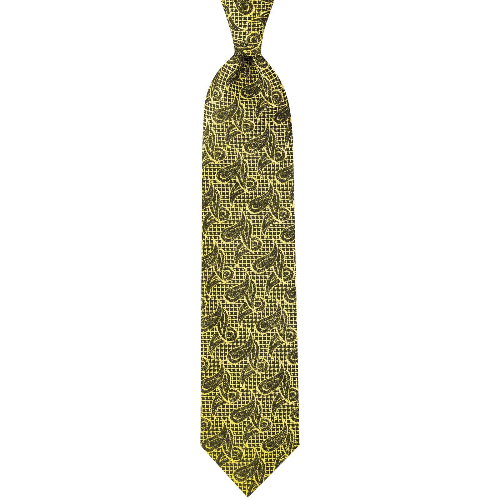 ست کراوات و دستمال جیب و گل کت مردانه جیان فرانکو روسی مدل GF-PA928-GO -  - 4