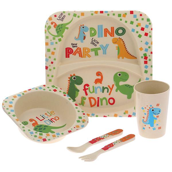 ظرف غذا 5 تکه کودک کوکو مدل Little Dino
