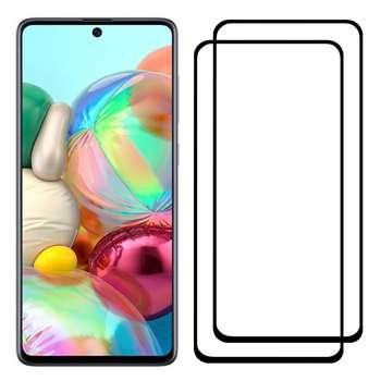محافظ صفحه نمایش مدل FCG مناسب برای گوشی موبایل سامسونگ Galaxy A71 بسته دو عددی