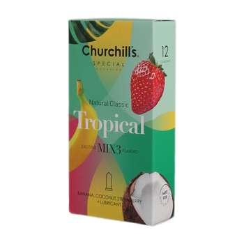 کاندوم چرچیلز مدل Tropical بسته 12 عددی