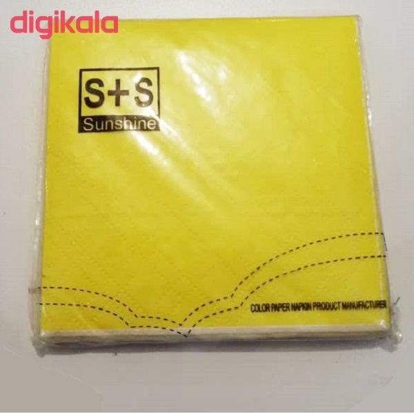 دستمال سفره سانشاین مدل ss016 بسته 20عددی main 1 1