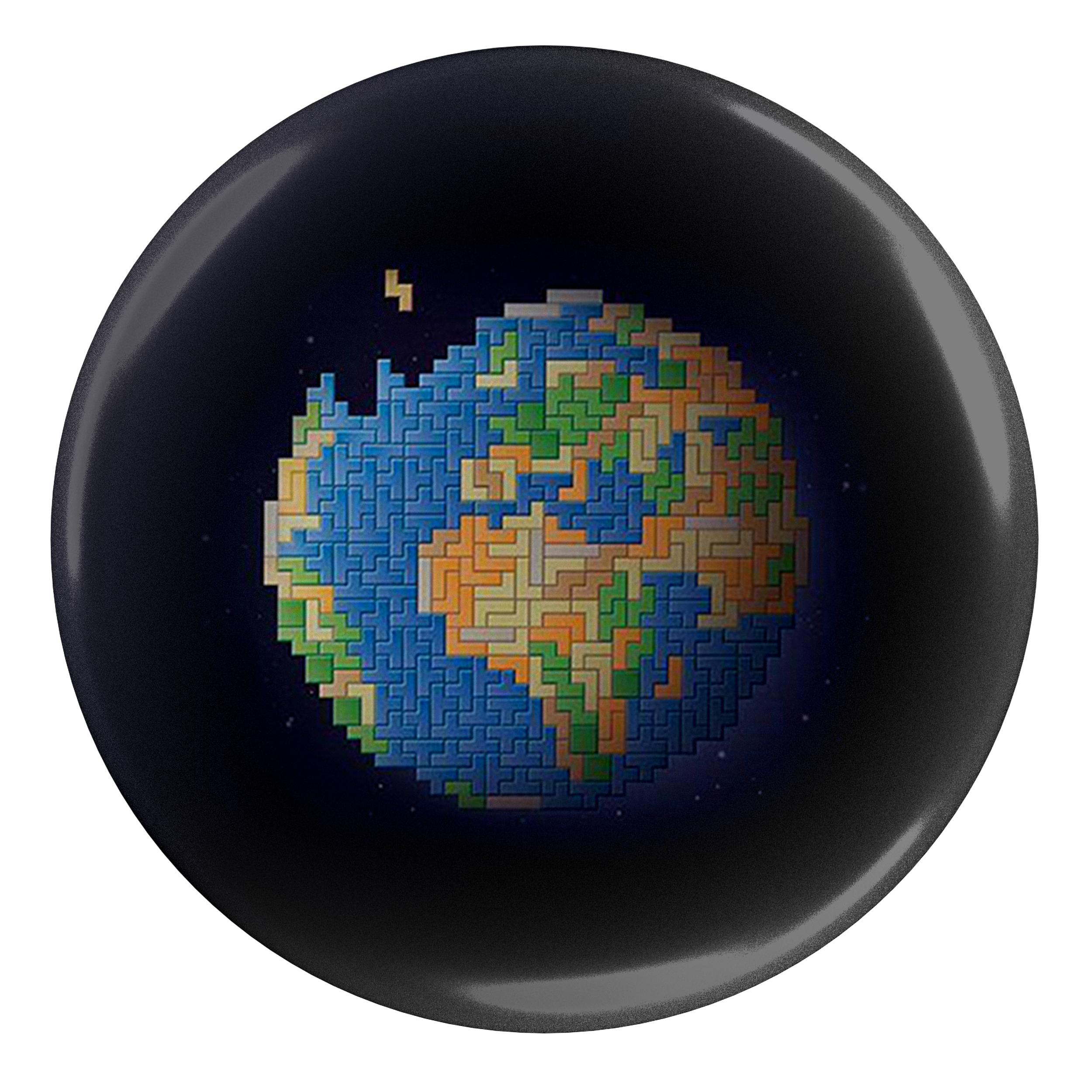 پیکسل طرح بازی خانه سازی و کره زمین مدل S1819