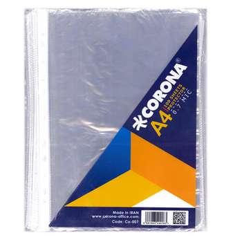کاور کاغذ A4 کرونا مدل CO-007 بسته ۱۰۰ عددی