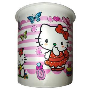 سطل زباله اتاق کودک مدل 2021 طرح Hello Kitty