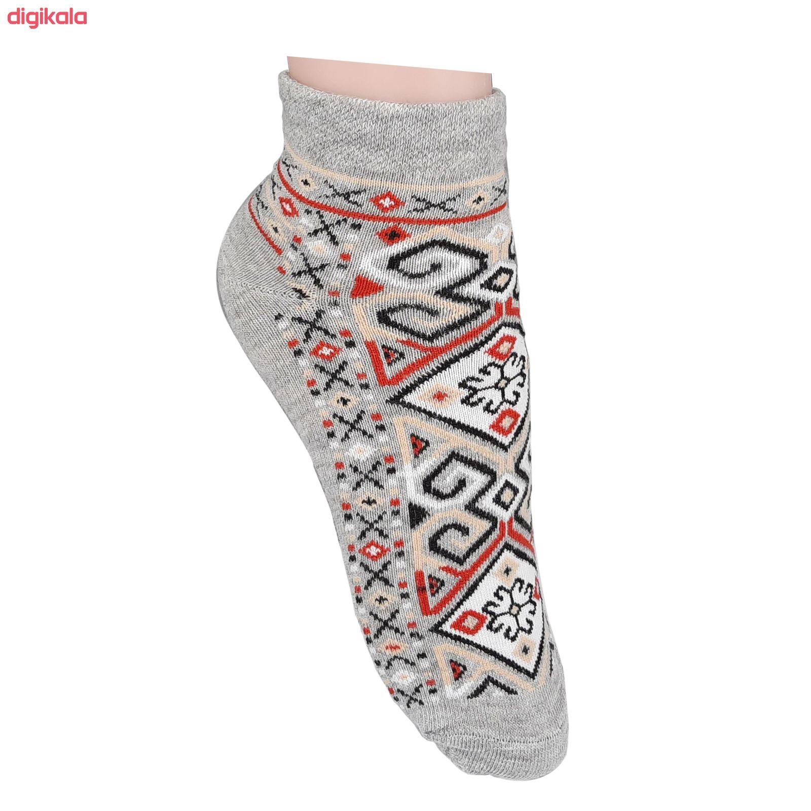 جوراب زنانه طرح سنتی کد JZ-02 مجموعه 4 عددی main 1 1